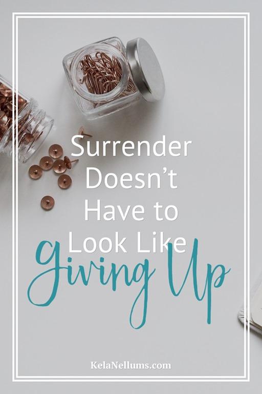 Pursuing What Is Excellent -- Surrender