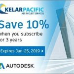 Autodesk Special Offer graphic for 10% off 3 year subscriptions
