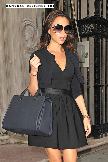 Victoria Beckham leaves her Fashion Week Runway Show after debuting her Spring 2011 collection