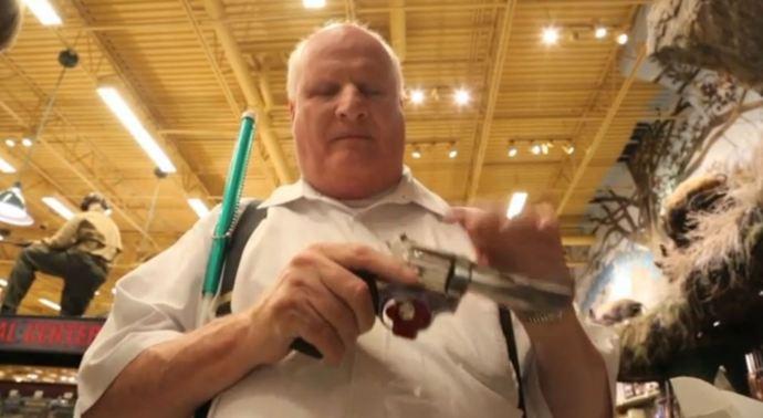 Blind gun owner