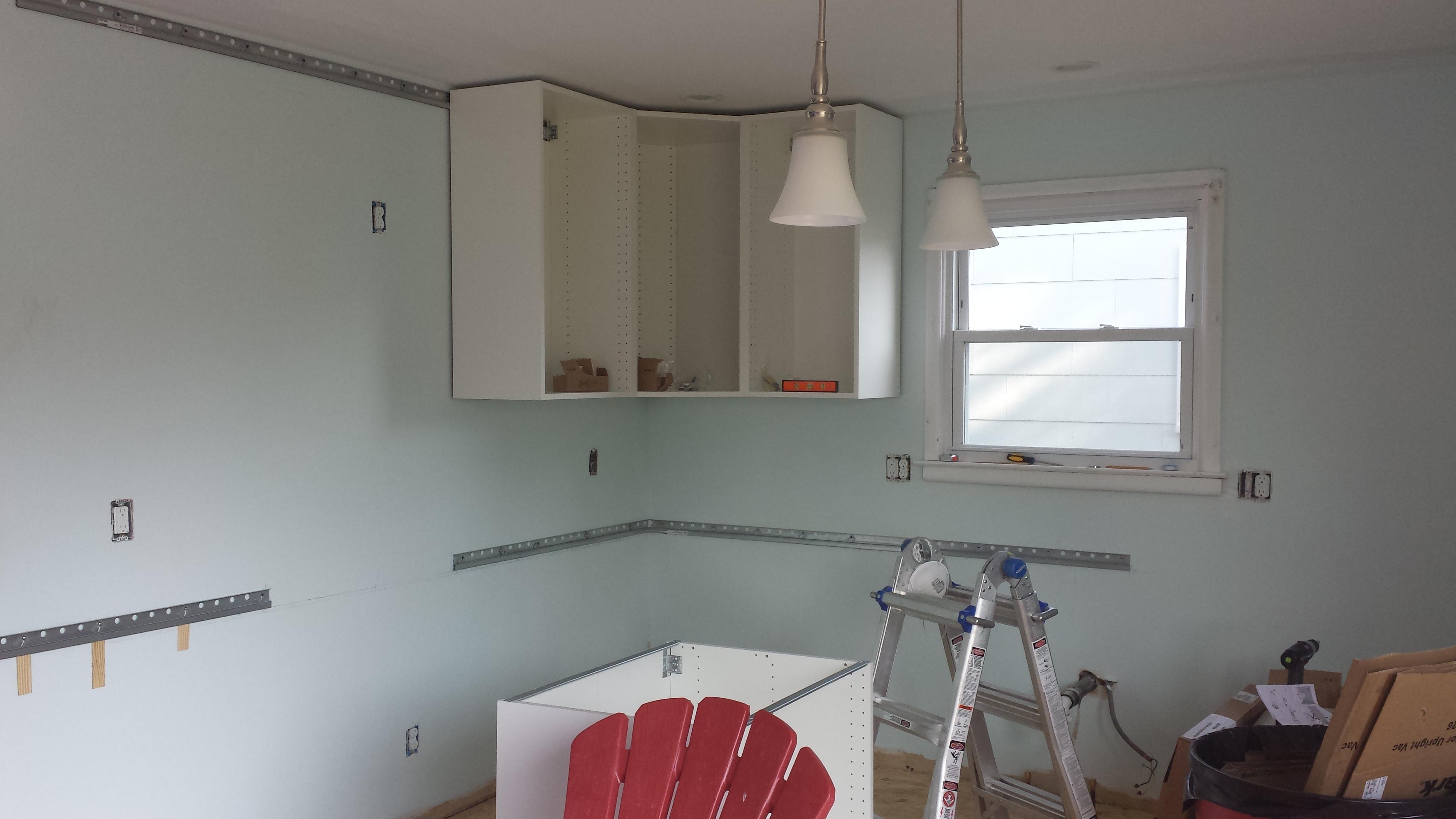 Cabinet Installation Round 2: Hanging Ikea Cabinets