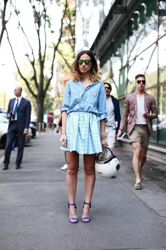 Milan Fashion Week Denim Street Style