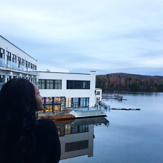 nature, lake and hotel