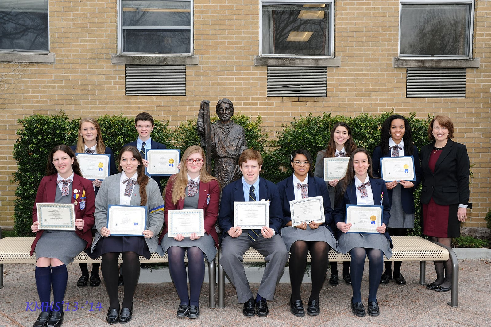kmhs students are awarded at diocesan respect life youth awards life issues by submitting a poem essay photograph bookmark design photomontage board video clip or song that ties in the contest theme