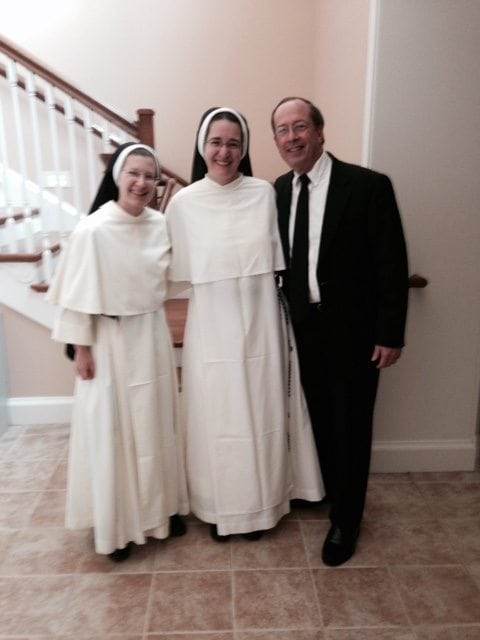 Sister Ann Thomas, O.P., Sister Ann Regina, O.P., and Brother Michael Gillen, S.M.