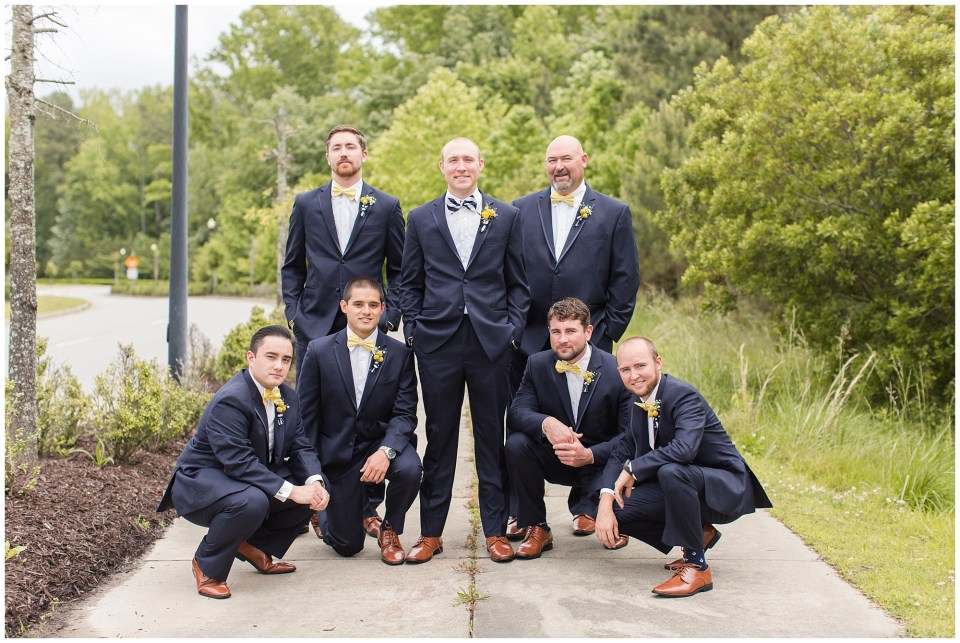 navy suits for groom and groomsmen