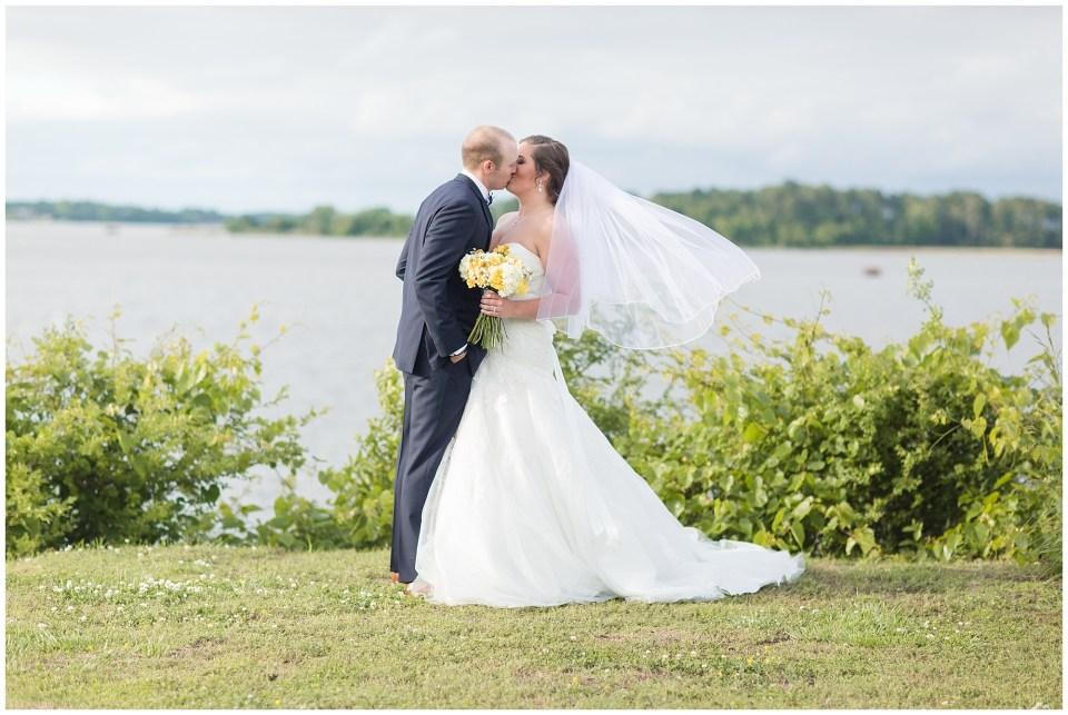 bride's veil flowing in the wind
