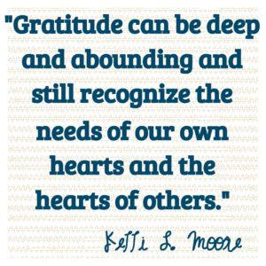 Grateful in the hard