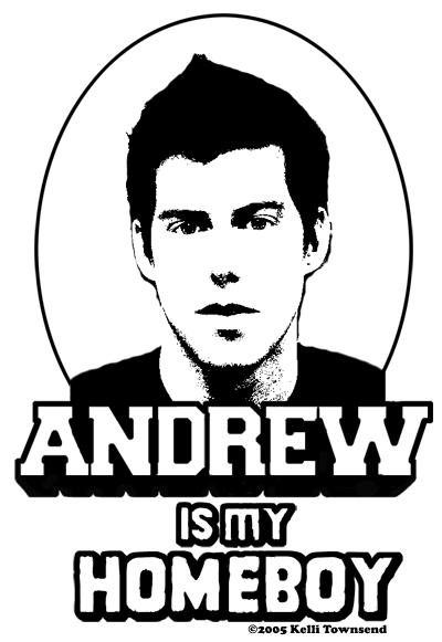 20 – Kelli Townsend – Andrew Is My Homeboy T-shirt – Design
