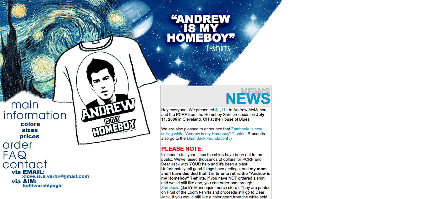 AndrewHomebody Website