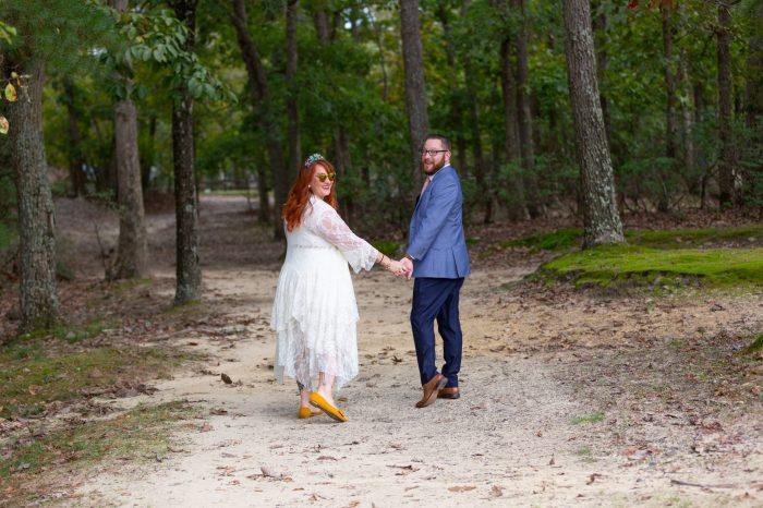 Alana and Ryan on the path