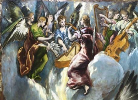 detail of El Greco's Annunciation