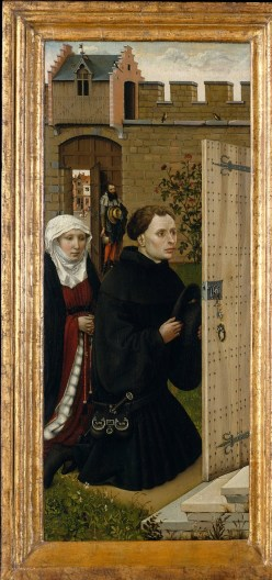 The Donors, or purchasers of the Annunciation by Robert Campin