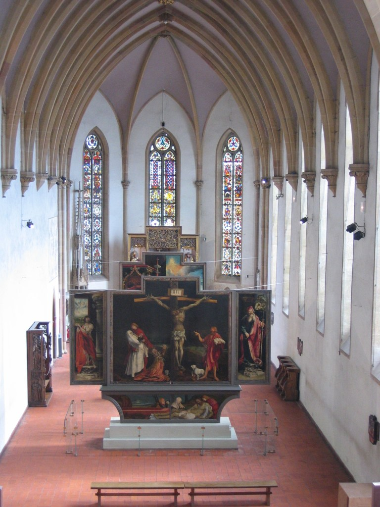 view of the Isenheim Altarpiece