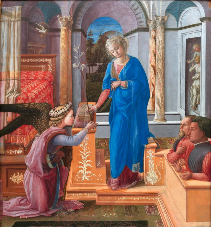 Fra Lippi's Annunciation with Two Donors