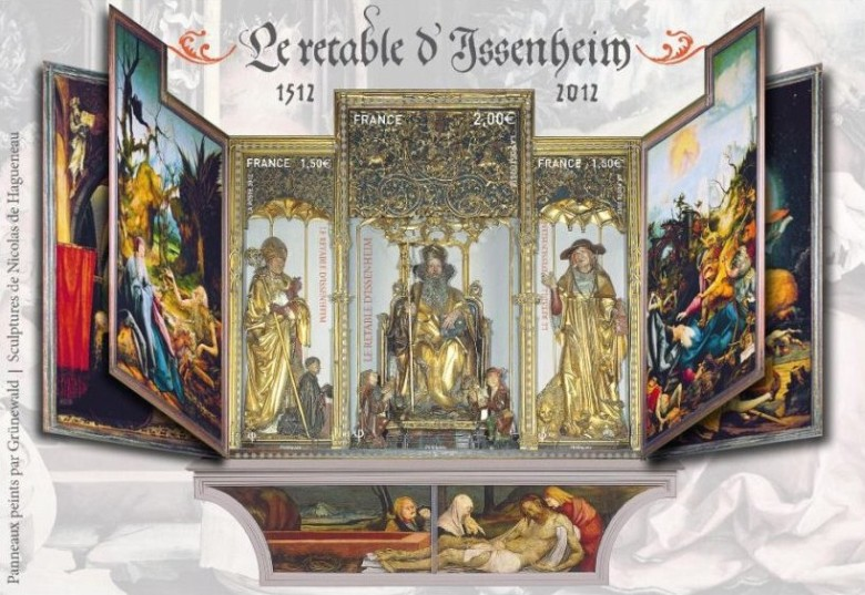 Illustration of how the Isenheim altarpiece opens