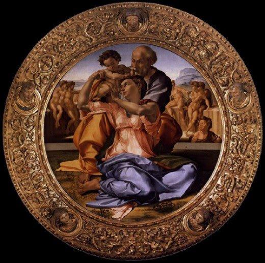 Michelangelo's Dono Tondo in it's frame
