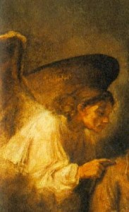 Detail from Rembrandt's Dream of Saint Joseph