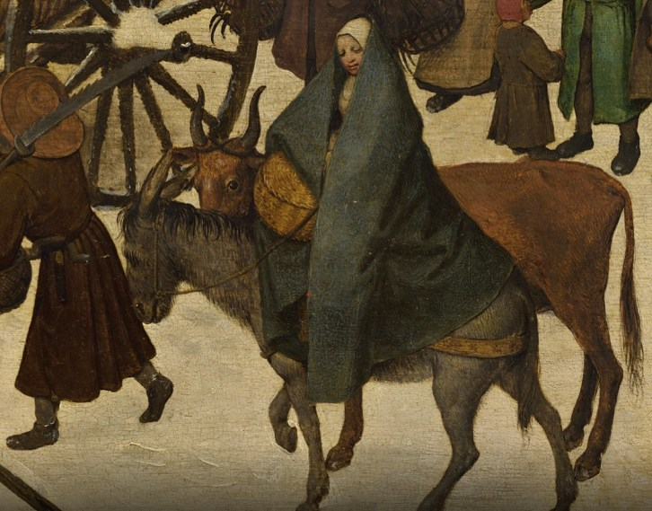 Detail of Bruegel's Census of Bethlehem