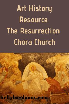 Art Resource analysing the Byzantine Resurrection painting in the Chora Church in Turkey. #kellybagdanov #arteducation #arthistory #byzantineart #chorachurch #Frescoes