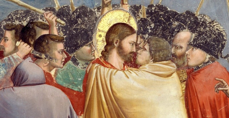 The Betrayal of Jesus by Giotto, also known as The Kiss of Judas