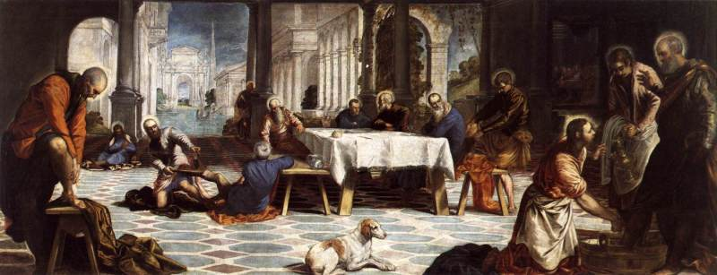 Christ Washing the Disciples' Feet - Tintoretto