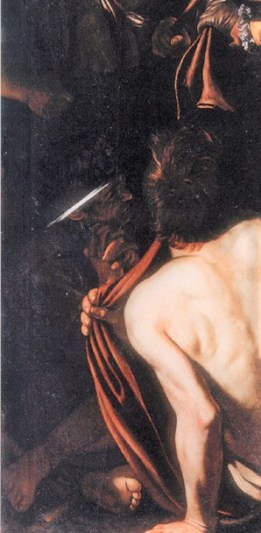 Detail from Caravaggio's Seven Works of Mercy