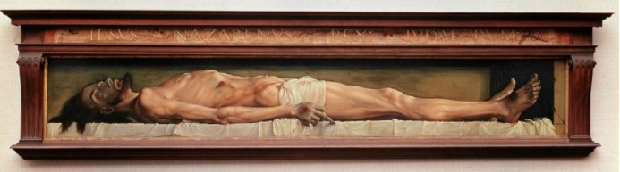 Hans Holbein The Body of the Dead Christ