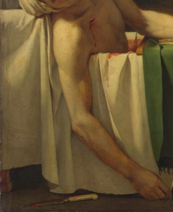 Detail from David's Death of Marat