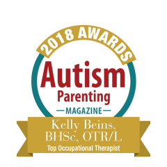 autism parenting magazine award for kelly beins