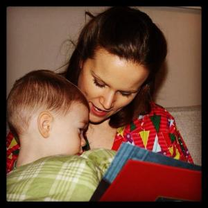 Once Upon A Christmas, Reading to my Godson.