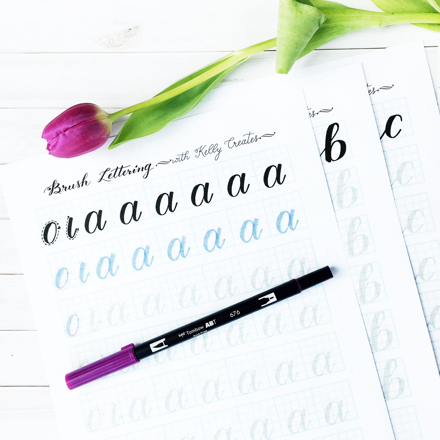 Learn Brush Lettering Kelly Creates