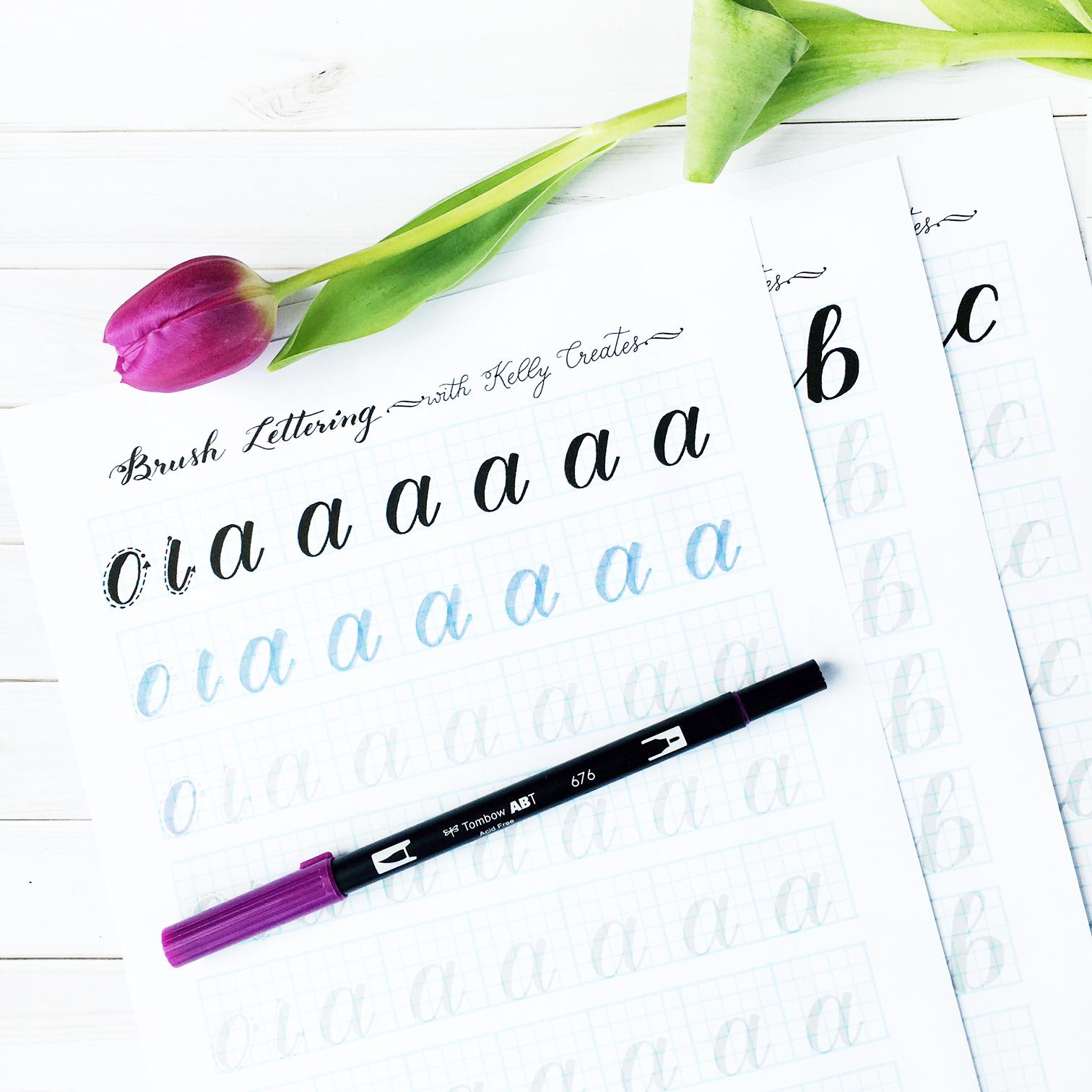 Lowercase Alphabet For Large Brush Pens A Kelly Creates