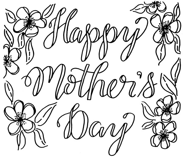 Free Mother's Day Coloring Card – Kelly Creates