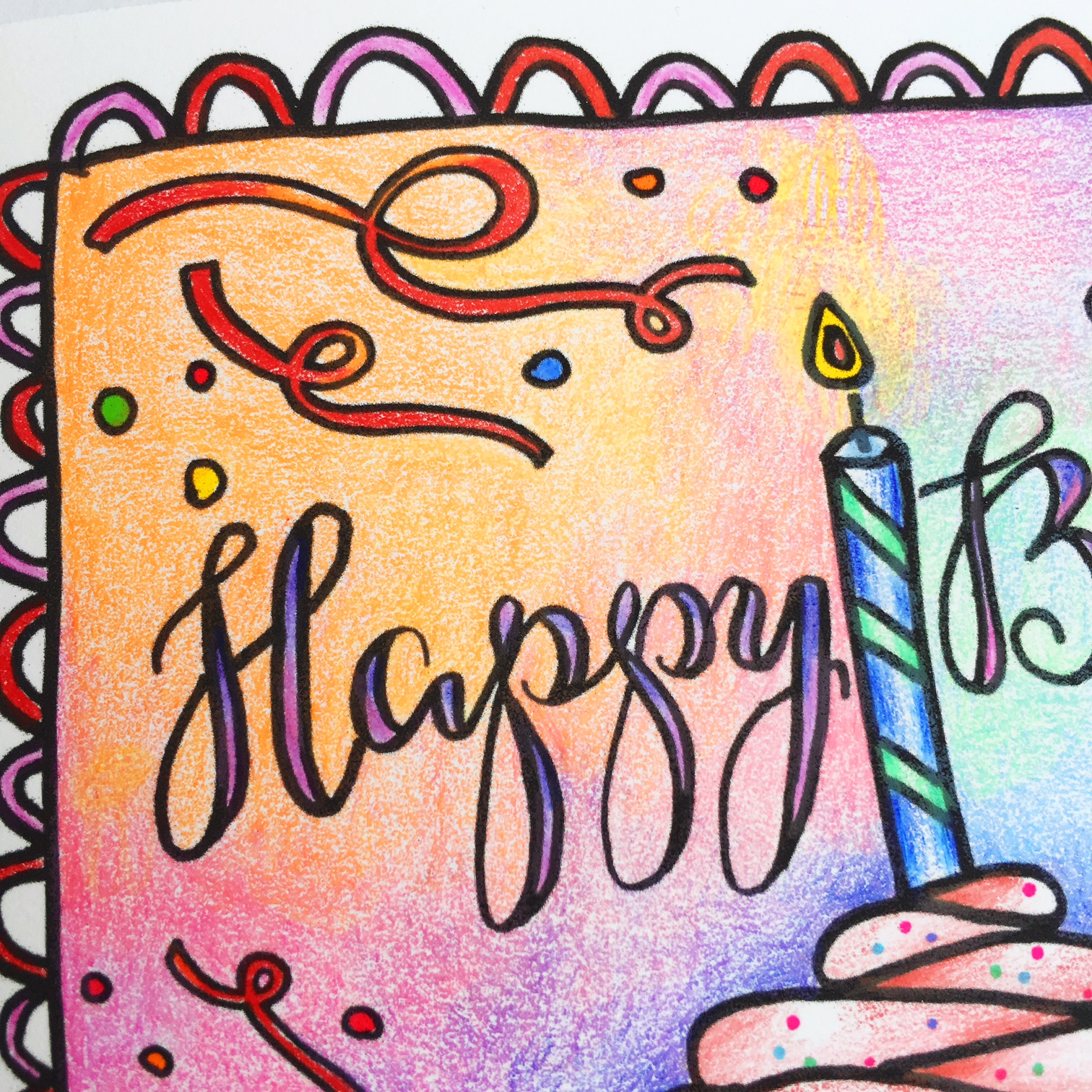 Colouring Giveaway Amp Free Birthday Card Kelly Creates