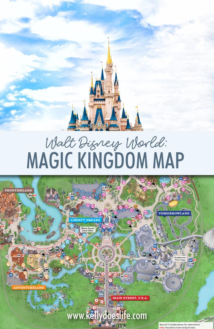 image relating to Printable Magic Kingdom Map named Magic Kingdom Map Walt Disney World wide - Current Might 2019!