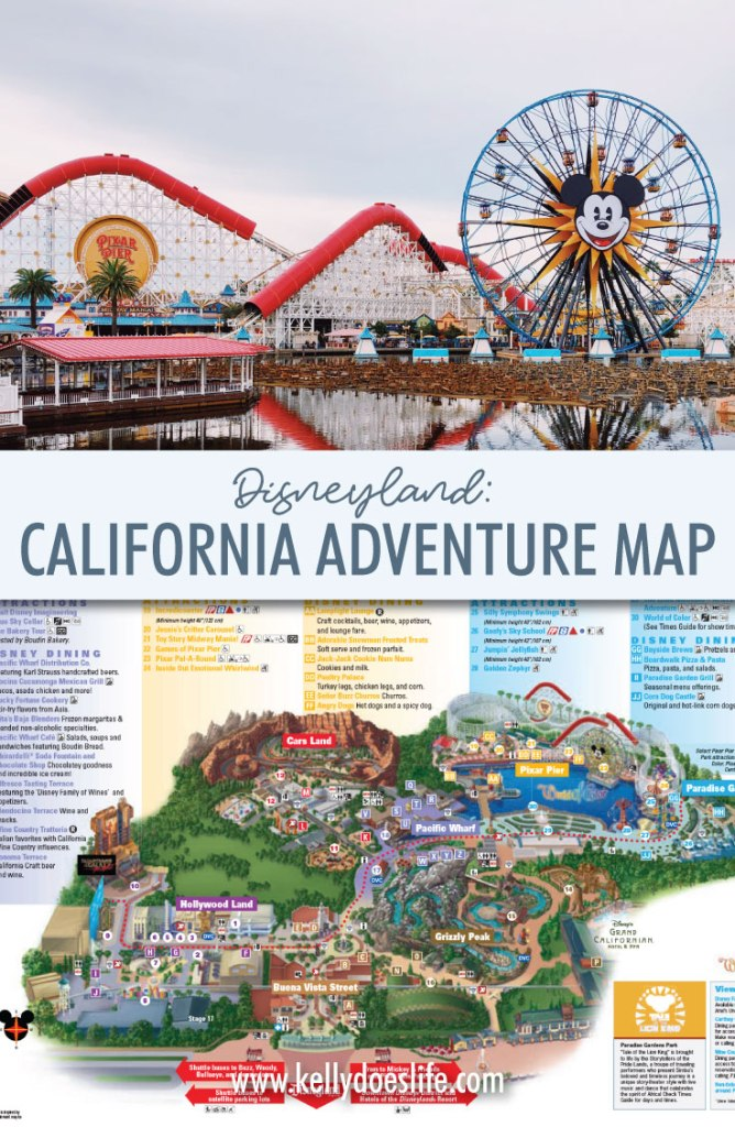 California Adventure Map Updated January 2020