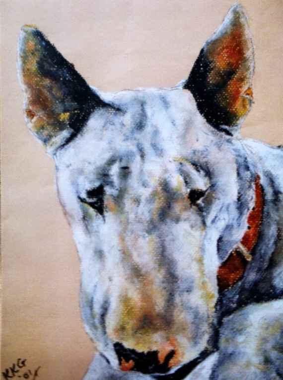 Bull Terrier Art Archives Kelly Goss Art - Bull terrier art