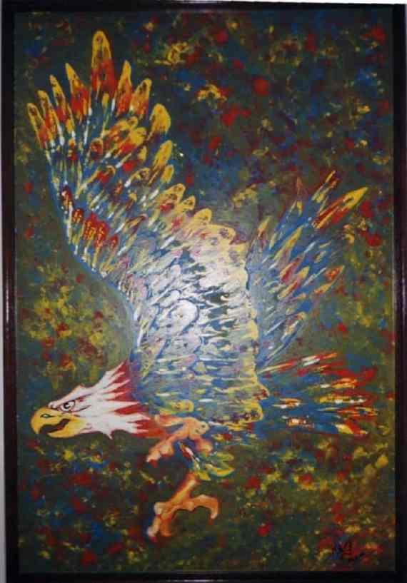 Eagle - oil on hardboard - Kelly Goss