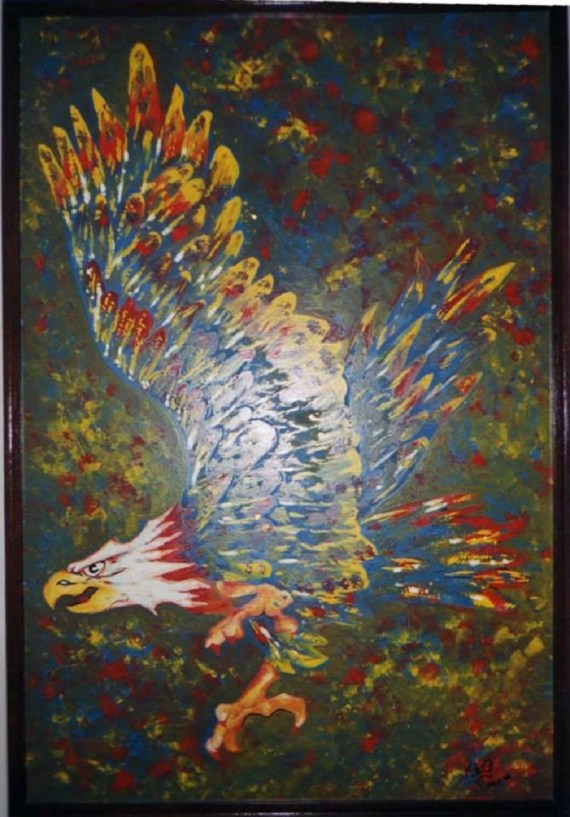 Eagle - oil on hardboard - Kelly Goss