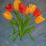 Tulips - acrylics on canvas - Kelly Goss