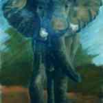 Elephant - chalk pastels on paper - Kelly Goss Art