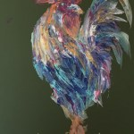 """The Fancy Cockerel"" - acrylics on board - Kelly Goss Art"