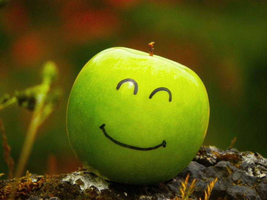 Яблоко картинка смешная, днем