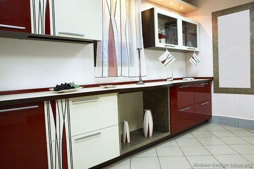Modern Two-Tone Kitchen Cabinet