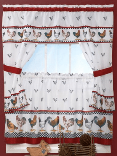 Amazing White Kitchen Curtain Swags