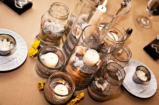 Floating Candle Vases Centerpieces