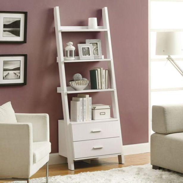 Ladder Bookcases with Drawers