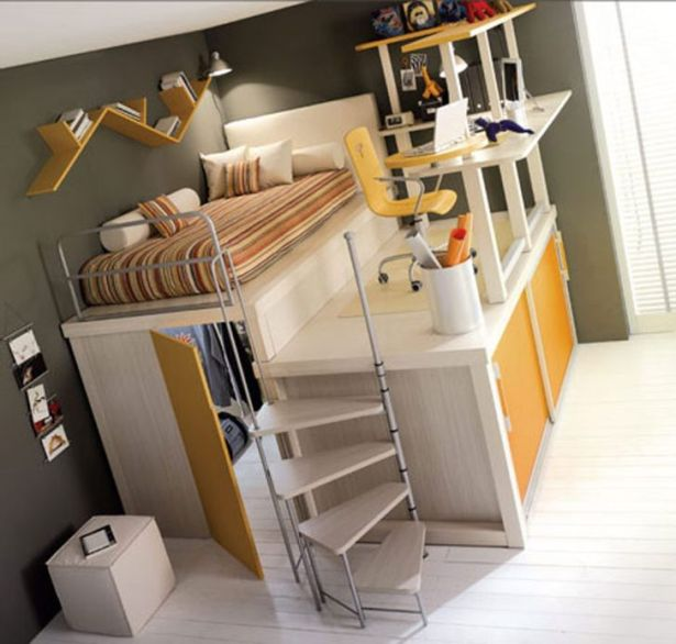 Small Space Bedroom Furniture With Spiral Bunk