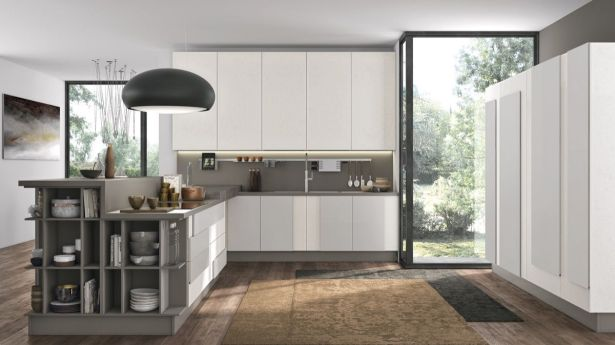 grey and white kitchen Grey and white kitchen Large Pantry 13